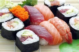 A sushi alapanyagai